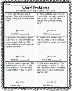 Worksheets 2nd Grade Math Worksheets Word Problems word problem fun 3 digit subtraction at the game games for counting money second grade problems more