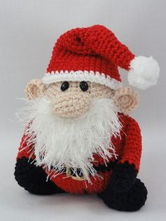 (35.00$)  Know more - http://aibsg.worlditems.win/all/product.php?id=32786638036 - Amigurumi Crochet Santa Claus XS Edition