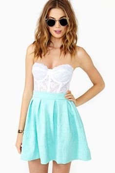 Tiffany blue skater skirt