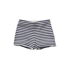 Abercrombie & Fitch Striped High Waist Tap Short ($16) ❤ liked on Polyvore featuring shorts, bottoms, pants, navy and white stripe, striped high waisted shorts, high waisted shorts, high rise shorts, striped shorts and stripe shorts