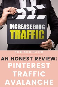 How to increase your blog traffic, so that people (strangers) actually find your amazing content. This is the course that skyrocketed my page views and it's how I got over 1 million page views to my new blog my first year blogging. These are my honest thoughts about the Pinterest Traffic Avalanche course. #createandgo #blogtraffic Small Business Resources, Business Advice, Online Business, Web Design Tips, Pinterest For Business, Virtual Assistant, Blogging For Beginners, Make Money Blogging, Pinterest Marketing