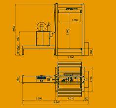 2210 Prensa flejadora automatica vertical con cabezal superior