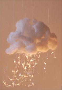 31 ideas for diy kids room ideas cloud lights Cloud Lamp, Diy Cloud, Cloud Lights, Diy Bebe, Diy Interior, My New Room, String Lights, Light String, Fairy Lights