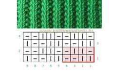 Different Thessaloniki example – knitting charts Loom Knitting Stitches, Knitting Basics, Simply Knitting, Knitting Charts, Easy Knitting, Knitting Socks, Crochet Poncho Patterns, Crochet Yarn, Knitting Patterns