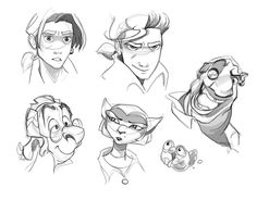 Treasure Planet Sketches By Qartunequeen-d637m by XOwladdictionx