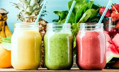 juice Benefits 10 Best Detox Smoothies For A Flat Belly Cleanse – The … - Detox smoothie Smoothie Fruit, Smoothie Detox, Breakfast Smoothies, Avocado Smoothie, Strawberry Smoothie, Ginger Smoothie, Yummy Smoothie Recipes, Healthy Smoothies, Superfood Smoothies