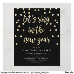 Budget Gold Glitter Let's Ring In The New Year