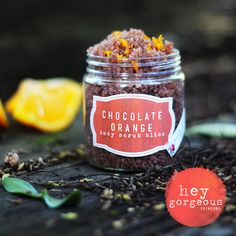 Our gorgeous Chocolate Orange Body Scrub not only polishes off old skin cells to reveal fresh fabulous skin, but the oils and essential oils in this formula nourish and moisturise too leaving it glowing. You'll feel amazing, and smell totally delicious!
