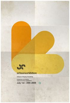 Artisan exhibition poster by steve kelly