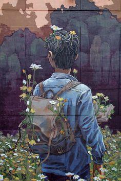 'Poem for Nobody' – Bezauberndes Mural von Street Artist Rustam QBic in Mexiko Murals Street Art, Graffiti Murals, 3d Street Art, Street Art Graffiti, Mural Art, Street Artists, Banksy, Urbane Kunst, Street Gallery
