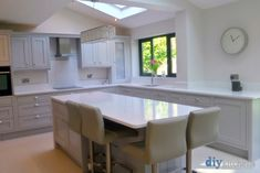 An Innova Helmsley Light Grey Inframe Kitchen