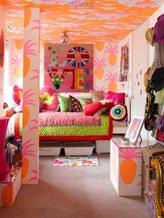 a continuacin presentamos una pequea galera de fotos de dormitorios para chicas decorados con varios colores