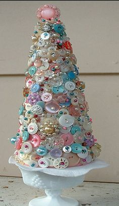 Make a button tree to display some of your favorite buttons.