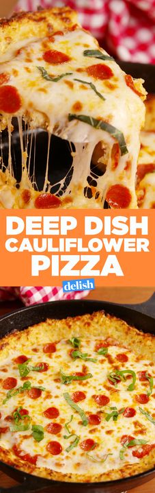 Warning: you may devour this low-carb Deep Dish Cauliflower Pizza in one sitting. Get the recipe from Delish.com.