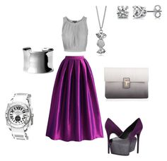 """""""My fav color PURPLE"""" by keishaanngraham ❤ liked on Polyvore featuring Chicwish, Topshop, Giuseppe Zanotti, Lipsy, Nordstrom, Marc by Marc Jacobs, BERRICLE and Aquaswiss"""