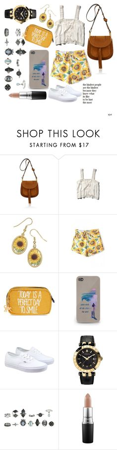 """""""Real life painting"""" by maydayhailee ❤ liked on Polyvore featuring Chloé, Abercrombie & Fitch, Natures Jewelry, Kipling, Vans, Versace, MAC Cosmetics, women's clothing, women's fashion and women"""
