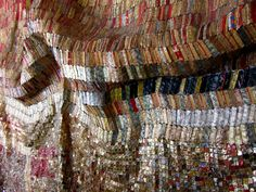el anatsui - beautiful art made with recycled bottle tops and cans