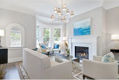 Wall Color: Abalone 2108-60 by Benjamin Moore Trim color: Decorators White by Benjamin Moore Jonathan Adler light