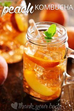 Peach Kombucha Tea Recipe from Thank Your Body