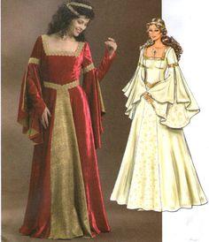 Butterick 4571 Renaissance Medieval Dress Sewing Pattern Szs 6 8 10 12 UC | eBay