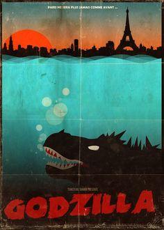 Godzilla - ''Paris attacked by Godzilla'' - Richard Tran