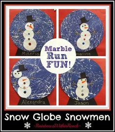 """Snow Globe created out of """"Marble Painting"""" at Rainbows Within Reach"""