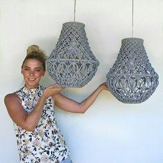 Macrame Pendant Lights by EdenEve Macrame #Lamp