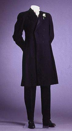 Formal Suit  circa 1895-1905  A. Simon & Son (US) Manufacturer/Studio  Wool, silk satin  Mint Museum, 1993.24.10A-C