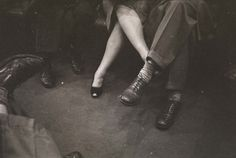 Couple playing footsies on the New York subway, 1946. Photographed by Stanley Kubrick for Life magazine.