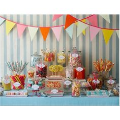 penelope's baptism - Candy table