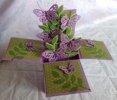 Pop up box cards - Voor wie de cursus 'Kaarten en kado-envelopjes maken' bij Marjolein Zweed Creatief heeft gedaan. Dit is ook een leuke variant op de doosjes-kaart.