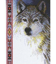 Janlynn Wolf Wildlife Cntd X-Stitch Kit