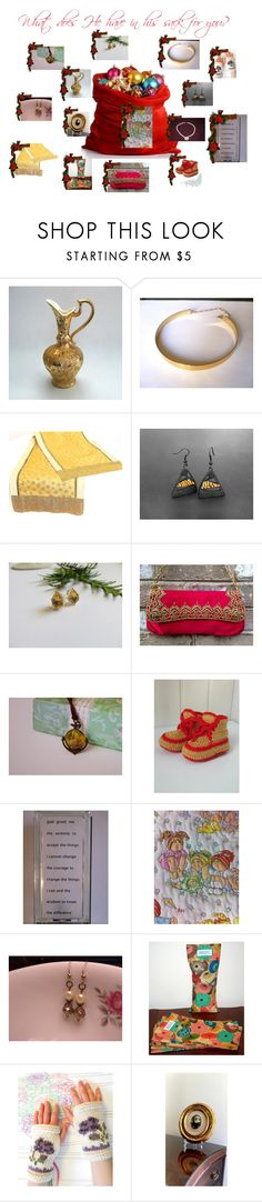 """""""What does he have in his sack for you?"""" by cozeequilts ❤ liked on Polyvore"""