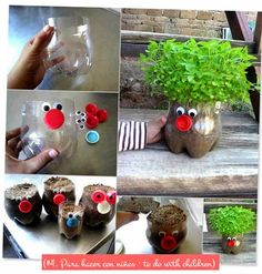 DIY & Reciclaje: 5 macetas bonitas hechas con botellas · DIY & Recycling: 5 nice bottle planters