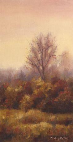 Amber Glow by Deborah Angilletta Oil ~ 16 x 8