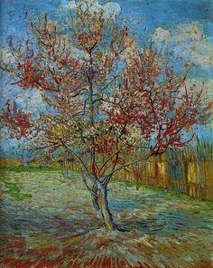 Pink Peach Tree - Vincent van Gogh  1888