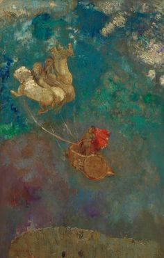 Le char d' Apollon, by Odilon Redon, Redon, Odilon Gustav Klimt, Odilon Redon, Pre Raphaelite, Foto Art, Art Uk, Art Abstrait, Visionary Art, Oeuvre D'art, Lovers Art