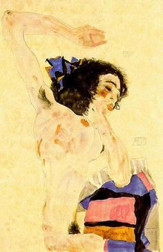huariqueje:    Black Haired Girl -  Egon Schiele  1890-1918