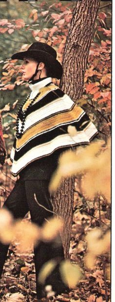 PONCHO  Crochet Poncho pattern  GAUCHO by suerock on Etsy, $3.99