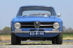 Alfa Romeo Giulia GT Junior 1973 - color Azzuro le Mans - original 1300 but with 1600 Sprint Veloce engine! - Import France (1986) - photo: Marc of ClassicarGarage