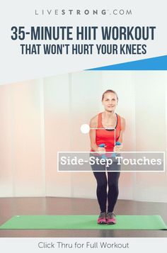 Finally, a HIIT workout designed for people with bad knees. #fitness #hiit