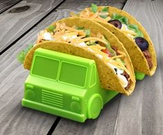 Truck Taco Holder. Would be really convenient when I get a bunch of tacos from Taco Bell and don't have enough hands to hold them all XD