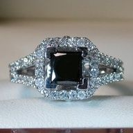 beautiful black diamond wedding ring #Home