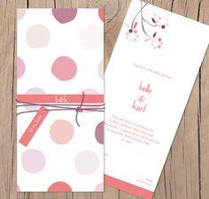 The polka in rose - Lilykiss wedding invitation.