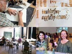 """Review (in german language) of the second week of summer academy """"Pentiment"""" in the calligraphy class of Peter Thornton. August 2011, Hamburg."""