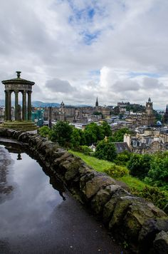 Calton Hill with a clear view of St Giles Cathedral, The Hub, Edinburgh Castle, and The Balmoral - Edinburgh, Scotland. Scotland Uk, England And Scotland, Scotland Travel, Scotland Nature, Scotland Vacation, Scotland Trip, Glasgow, Inverness, Places To Travel