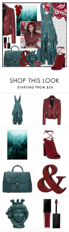 """Fall Trend:  Leather & Floral"" by sailorjerri ❤ liked on Polyvore featuring Oris, Free People, Balenciaga, Kenneth Cole, Victoria Beckham, Burberry, Smashbox and INC International Concepts"