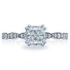 Shop online TACORI 572PR55 Vintage 18K - White Gold Diamond Engagement Ring at Arthur's Jewelers. Free Shipping