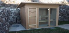 Outdoor Wood Sauna Garde; come in a range of different options, saunas allow you to relax whilst taking in the beauty of your natural