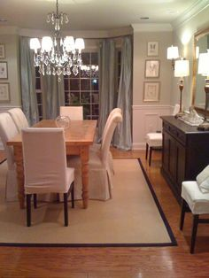 dining room would want table wdarker wood and different light fixture love - Colorful Dining Room Tables
